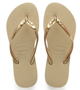 f5b3d74a2dd5c Havaianas Women`s Flip Flops Slim Lux Sandal Sand Grey Gold ...