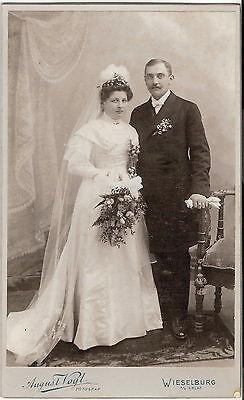 Großes CAB photo Schönes Hochzeitsbild - Wieselburg 1900er