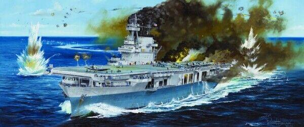 Uss yorktown cv-5 battleship 1 200 plastic model kit trumpeter