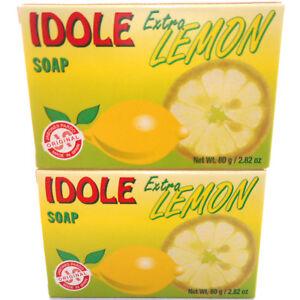 2-Pack-Idole-Extra-Lemon-Soap-Skin-Face-Cleanser-Jabon-de-Limon-Piel-Cara-Cuerpo