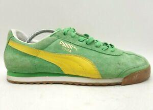 Puma Roma Green Leather Casual Athletic