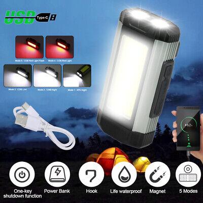 Rechargeable COB LED Slim Work Light Lamp Flashlight Inspect Mini Torch 800LM