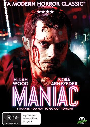 1 of 1 - Maniac (DVD, 2013) * Elijah Wood * Monster Pictures *