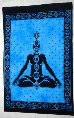 Indian Mandala Poster Wall Tapestry Hippie Turquoise Yoga Mat Decor Throw Ethnic