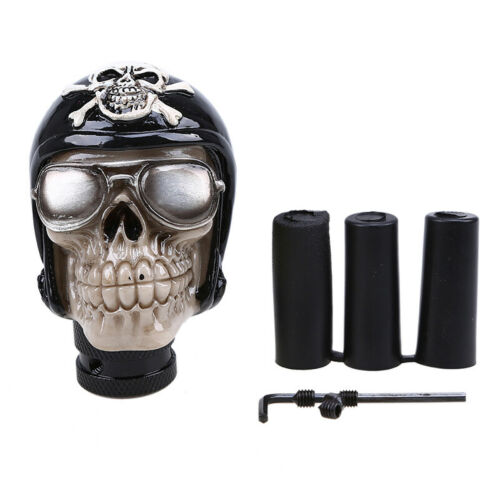 Black Skull Stolen Head Universal Car Manual Stick Gear Shift Knob Lever Shifter