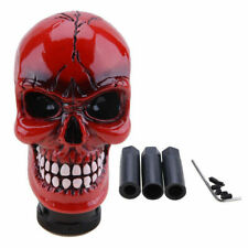 WOVELOT Universal manual Skull lever knob Car Auto LED RED