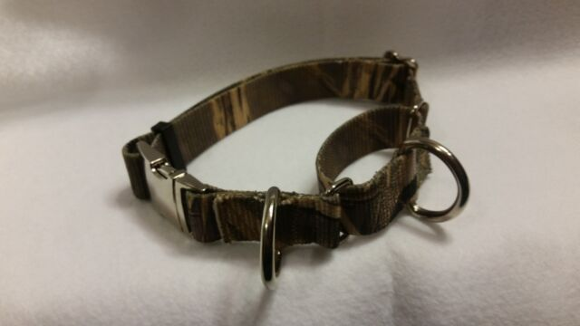 """Double Bar Buckle Martingale Dog Collar USA Made Tough Large fits 18 to 25/"""" Neck"""
