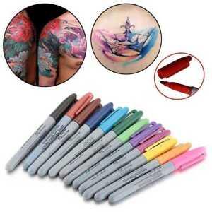 1-Satz-12-Stuecke-Tattoo-Haut-Marker-Tipps-Stift-Medical-Surgical-Scribe-Pen