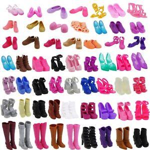 viele stiefel hoher absatz flacher sandalen schuhe kleidung f r barbie puppe 88 ebay. Black Bedroom Furniture Sets. Home Design Ideas