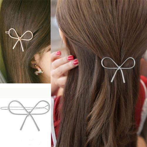 Vintage Haarnadeln Metall Bogen Knoten Haarspangen Mädchen Frauen Haarschmuck fw