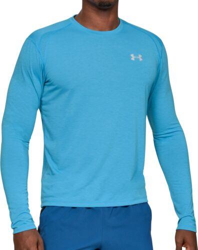Blue Under Armour Streaker 2.0 Long Sleeve Mens Running Top
