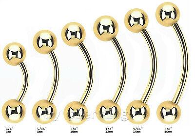 16g 0.6cm To 1.6cm Vergoldet Chirurgenstahl Nabelring Bauch Knopf Ring Ausgezeichnete (In) QualitäT