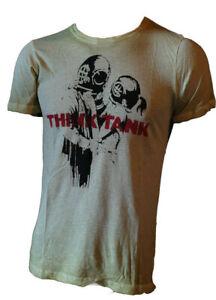 Maglietta-Uomo-Manica-Corta-T-shirt-Stampata-100-Cotone-Aderente-Vissuto-KAOS-M