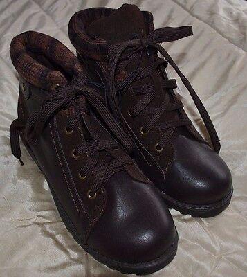Tesco F\u0026F kids boys lace up brown boots