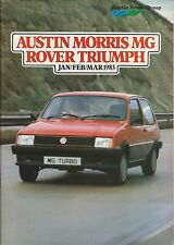 Austin Morris MG Rover Triumph Range Brochure 1983 Inc Mini Metro Ital Acclaim