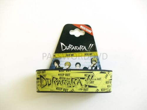 DURARARA CELTY HELMET KEEP OUT PVC WRISTBAND GE LICENSED BRAND NEW 54107