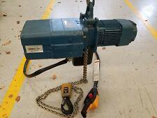 Demag 2200 Lbs 1 Ton Electric Chain Hoist Dkes 5 500 K V2 Di 3phase 13ft