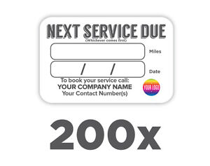 200 x MOT Next Due Labels Reminder Stickers