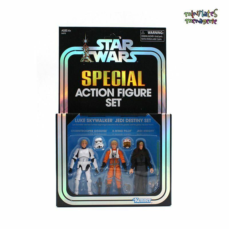Hasbro Star Wars SDCC 2019 Exclusive Luke Skywalker Jedi Destiny 3-Pack NM CARD