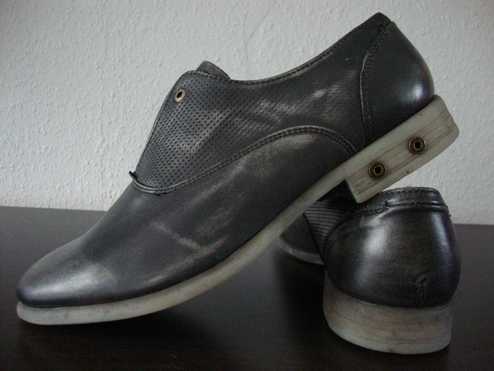 DIESEL CHRONON Elegante Schuhe Herren Leder Halbschuhe Classic Leder Gr.45 NEU
