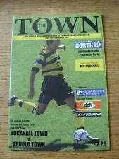 05/08/2008 Hucknall Town v Arnold Town [Friendly] (No apparent faults).