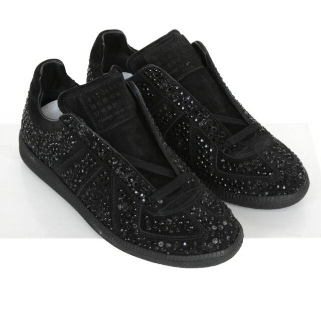 39d1844b4267 MAISON MARTIN MARGIELA crushed crystal shoes smashed rhinestone sneakers 35  NEW