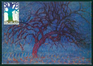 LibéRal Pays-bas Mk 1974 Art Peintures Mondriaan The Red Tree Maximum Carte Mc Cm Em80-afficher Le Titre D'origine