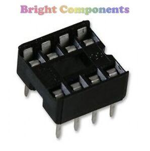 20-x-Brand-New-8-Pin-DIL-DIP-IC-Socket-1st-CLASS-POST
