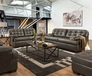 Peachy Details About Acme Furniture Saturio Gray Top Grain Leather Sofa And Loveseat Pabps2019 Chair Design Images Pabps2019Com