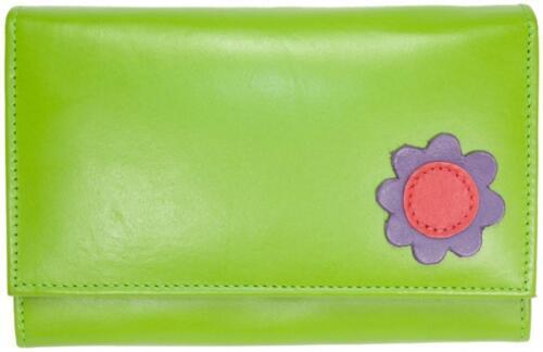 Toucan of scotland en cuir véritable femmes coin carte de crédit notes sac à main zippé /&