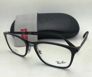 7abddd1bd0 New RAY-BAN Rx-able Eyeglasses RB 7131 2000 55-19 145 Black   Matte ...