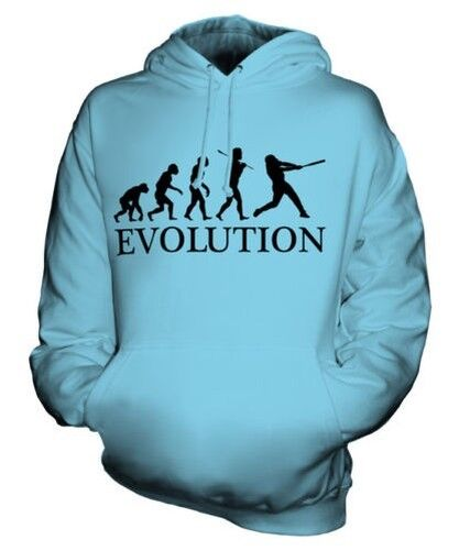 Baseball Evolution Of Man Unisex Felpa con Cappuccio  Herren Damenschuhe Idea Regalo Bat