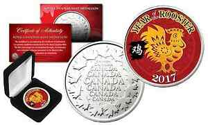 2017-Chinese-New-YEAR-OF-THE-ROOSTER-Royal-Canadian-Mint-Medallion-Coin-with-Box