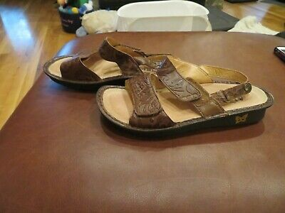 Nice Womens Brown Alegria Sandals, 7