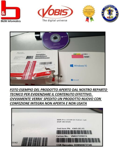 WINDOWS 10 PROFESSIONAL DVD ITA PACK PRO ITALIANO 32 64 BIT SOFTWARE ORIGINALE