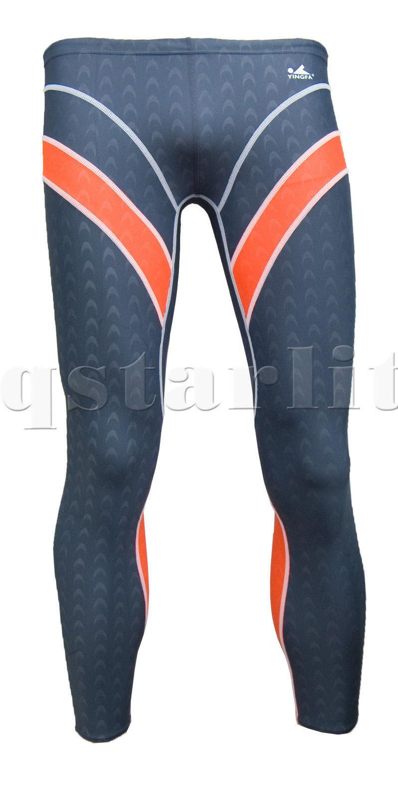 Men Male Racing Training Fast Skin Openwater Legskin Pants Swimwear Size 30  XL