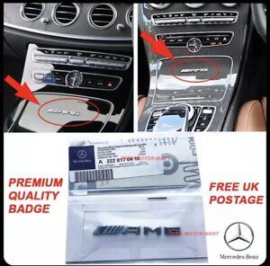 Small Mercedes AMG Badge Cockpit Centre Console Dashboard Interior C E A S 🇬🇧