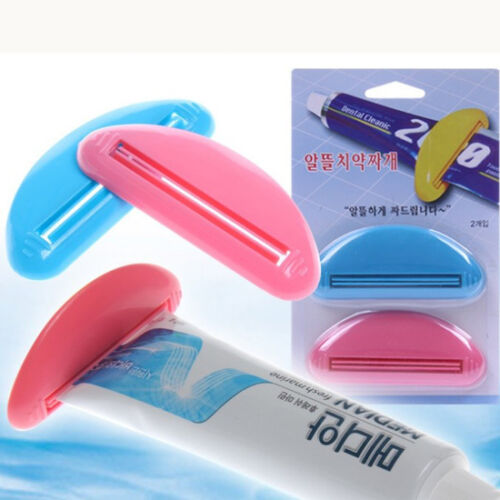 2pcs Popular Dispenser Squeeze Tube Squeezer Easy Press Toothpaste Tool Home New