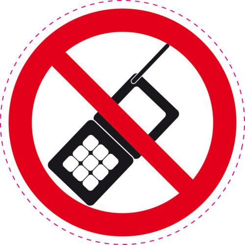 1 autocollant INTERDIT DE TELEPHONER 10 cm Style interdit de fumer