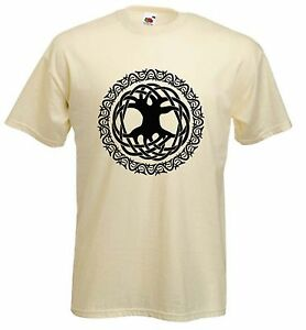 CELTIC-TREE-OF-LIFE-T-SHIRT-Pagan-Druid-Wicca-Choice-Of-9-Colours