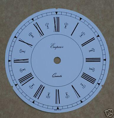 7.3//4 pouces en pvc blanc romain horloge cadran avec fluer de lys décoration.