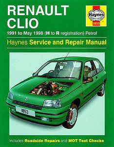 haynes manual 1853 renault clio petrol 91 may 98 h to r h1853 rh ebay co uk haynes manual renault clio pdf haynes manual renault clio 1.5 dci