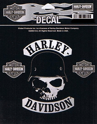 HARLEY DAVIDSON SPIKE SKULL HELMET 5 INCH  PATCH