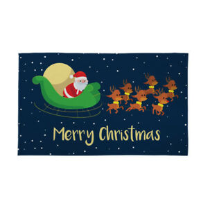 Christmas Banners.Details About Large Christmas Party Banner Decoration Festive Merry Xmas Sleigh 5x3ft
