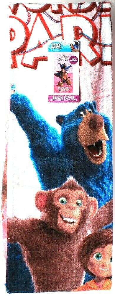 1 Count Franco Manufacturing Wonder Park Beach Towel 29 in X 58 in Cotton 41737W