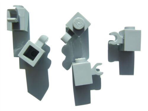4535764 Parts /& Pieces 5 x Lego Grey brick with holder size 1x1 vertical