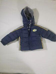 63a20b408194 Children s WONDER KIDS Winter Coat Navy Blue Gray Size 24 months G2 ...