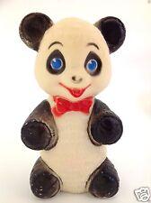 Vintage Panda Bear Squeak Toy Sanitoy Rubber Panda Bear Squeaker Kids 1960s Toy