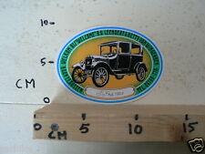STICKER,DECAL T FORD 1923 LEENDERT & BETTY VAN WINGERDEN OLDTIMER CAR
