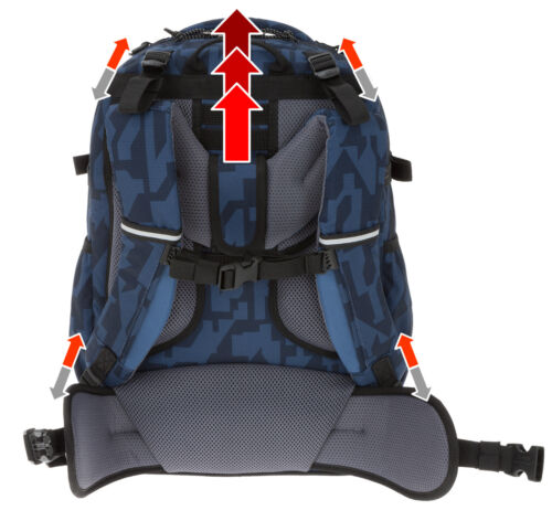 Schulrucksack Yzea Pro Schulmappe Rucksack Schultasche 32 L Knit 243 Flasche